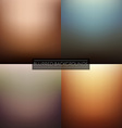 Blurred Backgrounds Set vector image vector image