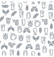 brewing monochrome seamless pattern vector image vector image