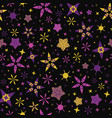 bright starry night sky seamless pattern vector image