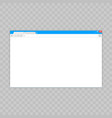 browser windowweb browser in flat style window vector image vector image