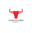 bull horn logo and symbols template icons vector image