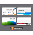 Business Card template set 002 vector image vector image