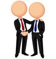 Business handshake vector image