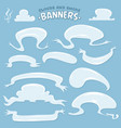 cartoon clouds and smoke banners vector image vector image