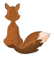 cartoon fox sitting with her back stylized fox vector image