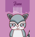 cat cute calendar design vector image