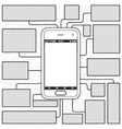 Cellphone Blueprint vector image vector image