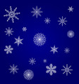 christmas card blue with white snowflakes vector image vector image