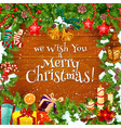 christmas winter greeting card vector image