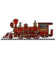 classic red wild west steam locomotive vector image vector image