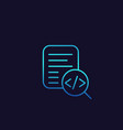 code review icon linear vector image