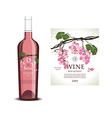 Conceptual transparent label for rose wine vector image vector image