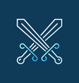 crossed swords modern colorful icon in vector image