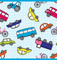 cute hand drawn kids toy transport babright vector image