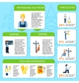 Electricity Flat Infographic Poster vector image vector image
