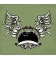 Emblem wing sign vector image vector image