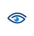 eye abstract vision logo vector image vector image