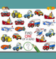 find one a kind activity game vector image