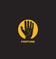 fortune telling logo icon design vector image