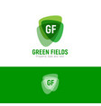 g and f green fields property logo arms vector image