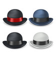 gentleman bowler hat isolated 3d vintage design vector image
