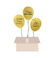 Gold Balloon Card vector image vector image