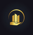 Gold business finance logo