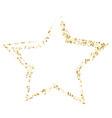 golden star banner on white background gold vector image
