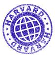 grunge textured harvard stamp seal