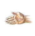 hand gesture stretching hand to handshake vector image