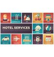 hotel services - set of flat design infographics vector image vector image