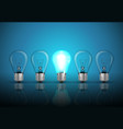 idea concept on blue background vector image