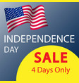independence day sale banner template design vector image vector image