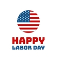 Labor day Holiday in United States celebrated on vector image vector image