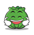laughing face cabbage cartoon character style vector image
