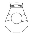 line wide mason glass with circle sticker vector image vector image
