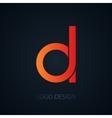 logo letter d vector image
