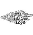 loving word cloud concept vector image vector image