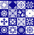 mexican talavera pattern ceramic tiles with vector image