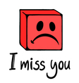 miss you face vector image
