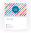 modern simple business card with a striped vector image