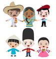 Multicultural children holding hands vector image