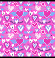 pink heart icon seamless pattern for love concept vector image
