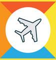 plane icon colored line symbol premium quality vector image vector image