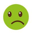 sad emoticon face kawaii style vector image vector image