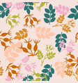 seamless pattern with hand drawn dog rose vector image vector image