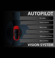 self driving car vision system vector image