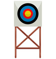 Shooting target on white background vector image vector image