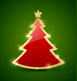 simple christmas tree vector image vector image