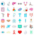 stethoscope icons set cartoon style vector image vector image